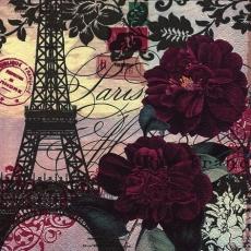 Pariser Eifelturm und rote Rosen