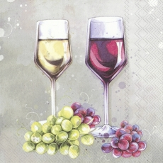Rot - und Weisswein mit hellen und roten Trauben