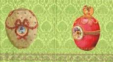 2 Fabergé Eier grün