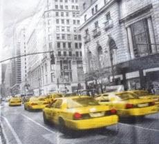 Amerika, USA, New York City, Manhattan, Taxis - Cabs, Avenue scene, United States of America - Amérique, États-Unis