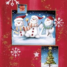 3 Schneemannfreunde - 3 cold fellows - 3 amis dhomme de neige