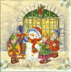 Kinder & der Schneemann - Children & the Snowman - Enfants et le bonhomme de neige