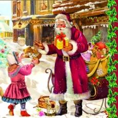 Kinder beim Weihnachtsmann - children with father christmas - les enfants avec le Père Noël