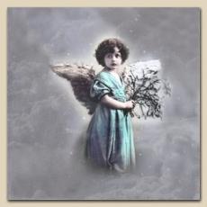 Engel mit Zweigen - Angel with twigs - Ange avec des branches