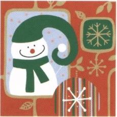2 fröhliche Schneemänner - 2 cheerful snowmen