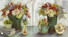 Wunderschön arrangierte Blumen blaugrau - Still life - Fleurs joliment aménagées