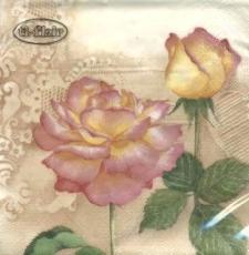 2 Rosenblüten creme - Belles Roses ivory