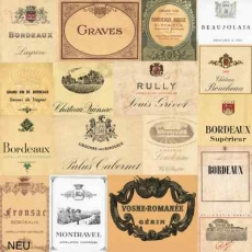 Weinetiketten - Wine labels - Étiquettes de vin