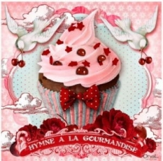 Törtchen-Tauben & Rosen - Cupcake, doves & roses - Muffin, colombes & roses - Hymne a la Gourmandise
