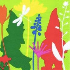 Blumen, Gartenzwerge & Libelle - Flowers, Garden gnomes and dragonfly - Fleurs, jardin gnomes et libellule