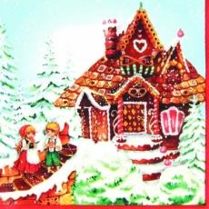 Knustperhäuschen mit Hänsel & Gretel - Ginger bread house - Maison de pain de gingembre