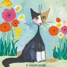 Rosina Wachtmeister - Katze im Garten - Cat in the garden - Chat dans le jardin
