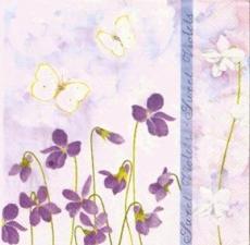 Wunderschöne Schmetterlinge an Veilchen, Sweet Violets - Beautiful butterflies on violets - Beaux papillons sur le violet