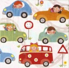 Kinder haben Spaß beim Auto fahren - Children have fun while driving car - Les enfants samusent tout en conduisant voiture