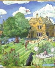 Cricket, Hund, Tee im Garten - Tea in the garden, dog - chien, thé dans le jardin