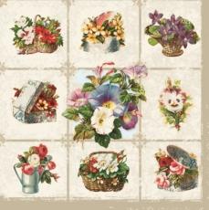 Blumen in Schachteln, Körben, Gießkanne - Flowers in boxes, baskets, watering can - Fleurs dans les boîtes, paniers, arrosoir