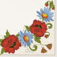 Gestickte Blumen - Embroidered flowers - Fleurs brodées