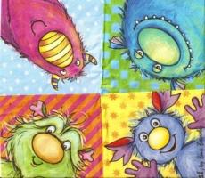 4 kleine Monster - 4 little monsters - 4 petits monstres