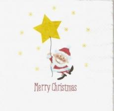 Kleiner Weihnachtsmann mit großem Stern - Little Santa Claus with big star - Petit Père Noël avec grande star