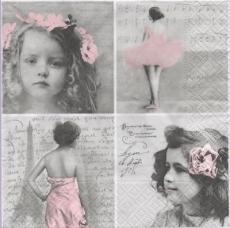 Collage mit 2 Mädchen, Ballerina, Frau & Eiffelturm - Collage with 2 girls, ballerina, Woman & Eiffel Tower - Collage avec 2 filles, ballerine, femme et Tour Eiffel