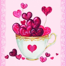 eine Tasse voller Herzen & Liebe - A cup full of hearts & love - une tasse pleine de coeurs et lamour