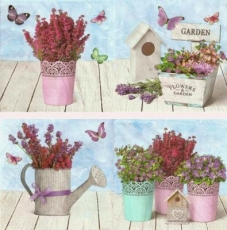 Blumen, Lavendel, Erika, Vogelhäuschen, Schmetterlinge... - Flowers, lavenders, heather, bird house, butterflies... - Fleurs, lavande, bruyère, maisonnette d oiseau, papillons....