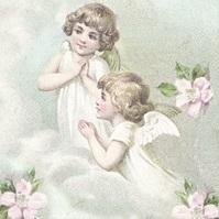 2 Engel, Wolken & Rosenblüten - 2 Angels, cloudes & Roses - 2 anges, nuages & fleurs de roses