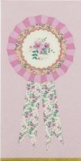 Blumen auf Rosette, Blumenband, Landhausstil - Flower ribbon, country style - ruban de fleur, style campagnard
