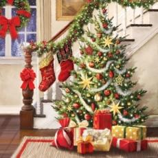 Geschenke am Weihnachtsbaum - Presents at the christmas tree - Cadeaux à larbre de Noël