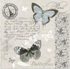 Schmetterlinge, Brief aus Paris, Stempel,  Muster - Butterflies, Letter from Paris, Stamp, Pettern - Papillons, lettre de Paris, timbres, modèles