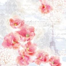 Blumen erblühen in Paris, Eiffelturm, Mohnblumen  - Flowers bloom in Paris, Eiffel Tower, poppies - fleurs fleurissent à Paris, Tour Eiffel, Coquelicots