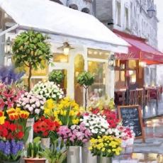 Blumengeschäft & Bistro, Restaurant - Flower shop and bistro, restaurant - Magasin de fleurs et bistro, restaurant