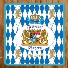Freistaat Bayern, Mia san Mia, Holz,Oktoberfest -Bavarian coat of arms, Bavaria, Germany, Munich, München -  Oktoberfest, wood - Armoiries Bavaroises, Bavière, Allemagne, Munich, München - Oktoberfest