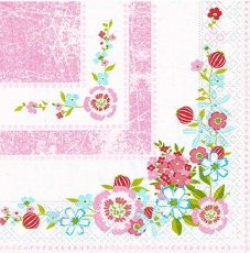 Blumenecken, Blumenrahmen - Shabby Flower corner/Frame - Coin/cadre de Fleurs shabby