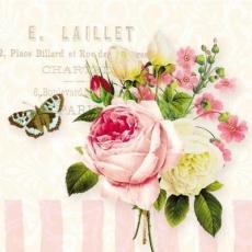 Schmetterling, Rosen & andere Blumen, klein - Bunch of flowers & butterfly - Papillon, roses et autres fleurs