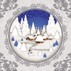 ein eingeschneites Dorf in einer Winterlandschaft - a snow-covered village in a winter landscape - un village enneigé dans un paysage d hiver