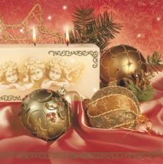 Weihnachtskugel & Engelkerze - Christmas balls & angel candle - Boule de Noël et bougie ange