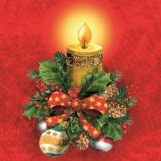 Weihnachtsdeko mit Kerzenlicht - Christmas decoration with candlelight - Décoration de Noël à la lueur des bougies