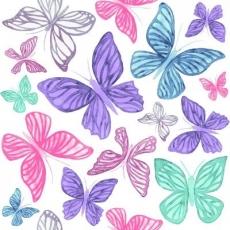 Viele bunte, kleine und große Schmetterlinge - Many colorful, small and big butterflies - Beaucoup de papillons colorés, petits et grands