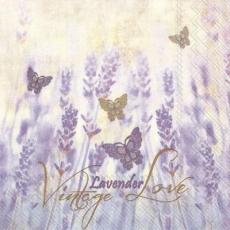 Zarte Lavendel und Schmetterlinge - Vintage Lavender & Butterflies - Lavande délicate et papillons