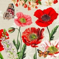 Schmetterlinge an Mohnblüten & anderen Blumen  - Butterflies on poppies & other flowers -Papillons sur les coquelicots et autres fleurs
