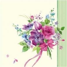 Zarter Blumenstrauß mit Schleife - Delicate bouquet with a bow - Bouquet délicat avec un arc