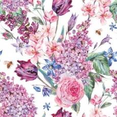 Biene & Flieder, Rose, Tulpen..... - Bee & lilac, rose, tulips ..... - Abeille et lilas, rose, tulipes .....