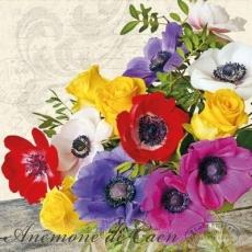 Blumenstrauß mit Anemonen & Rosen - Bouquet with anemones & roses - Bouquet d anémones et de roses