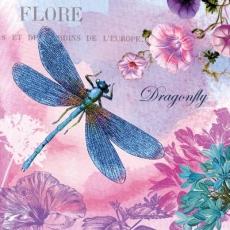 Wunderschöne blaue Libelle an Blüten - Beautiful blue dragonfly on flowers - Belle libellule bleue sur les fleurs