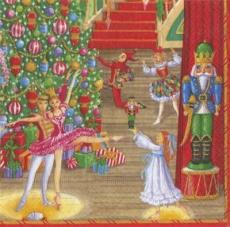 Caspari - Weihnachtsballett vor einem wunderschönen Weihnachtsbaum - Christmas ballet in front of a beautiful Christmas tree - Ballet de Noël devant un bel arbre de Noël