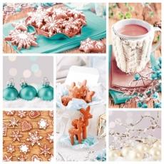 Baumschmuck, Tasse heisse Schokolade & Gebäck - Tree decorations, cup of hot chocolate & biscuits - Décorations d arbre, tasse de chocolat chaud et biscuits