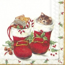 Katze & Maus im Weihnachtsstiefel - Cat & mouse in the Christmas boot - Chat et souris dans la botte de Noël
