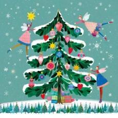 3 Feen schmücken einen Weihnachtsbaum - 3 fairies decorate a Christmas tree - 3 fées décorent un sapin de Noël