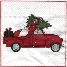 Weihnachtsmann im Auto - Santa Claus in the car - Père Noël dans la voiture